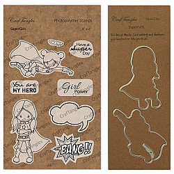 CrafTangles co-ordinated Stamp and Die Set - SuperGirls