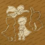 CrafTangles co-ordinated Stamp and Die Set - SuperBoys