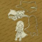CrafTangles co-ordinated Stamp and Die Set - SuperGirls