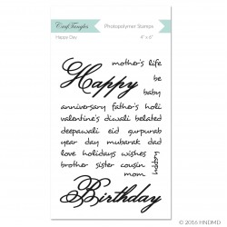 CrafTangles Photopolymer Stamps - Happy Day