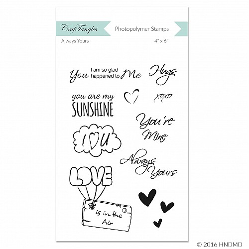 CrafTangles Photopolymer Stamps - Always Yours
