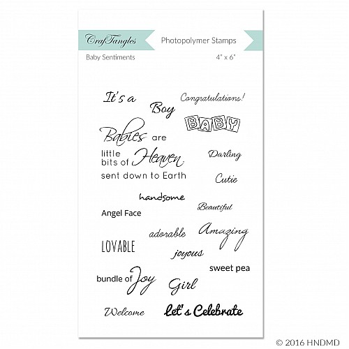 CrafTangles Photopolymer Stamps - Baby Sentiments