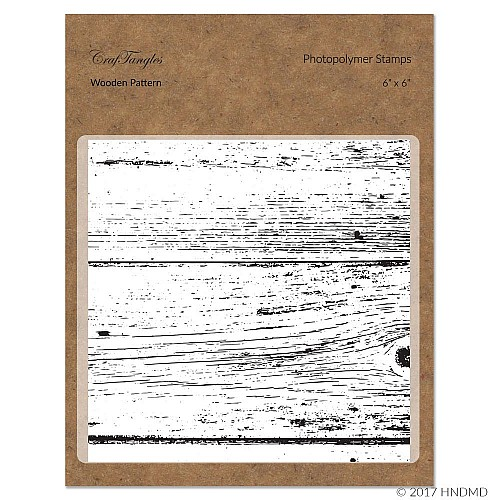 CrafTangles Photopolymer Stamps - Wooden Background