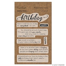 CrafTangles Photopolymer Stamps - Birthday Wishes