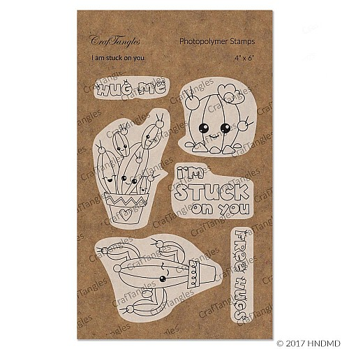 CrafTangles Photopolymer Stamps - I am stuck on you