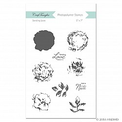 CrafTangles Photopolymer Stamps - Sending Love (Layered Stamp Set)