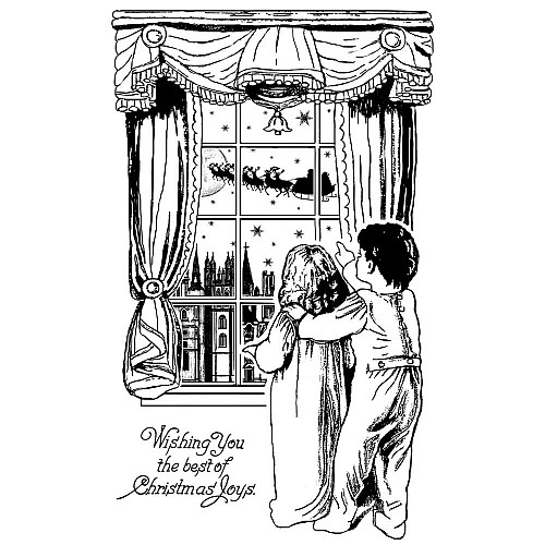 Crafty Individuals Unmounted Rubber Stamp - Waiting For Santa