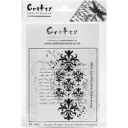 Crafty Individuals Unmounted Rubber Stamp - Baroque Splatter Script