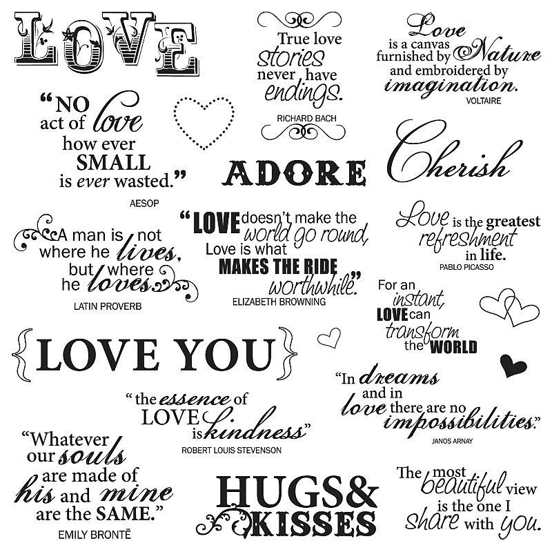 Buy Fiskars Clear Stamps Lasting Love Quotes Online In India At