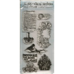 Tim Holtz Visual Artistry Clear Stamps - French Connection