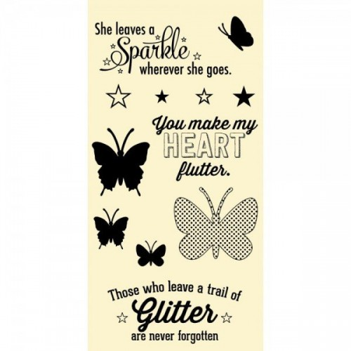 Hampton Art Clear Stamp - Butterflies