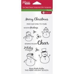 Hampton Art Clear Stamp - Snowman Sentiments