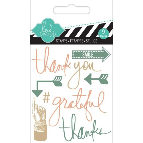 Heidi Swapp Clear Mini Stamps - Thank You