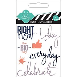 Heidi Swapp Clear Mini Stamps - Right Now