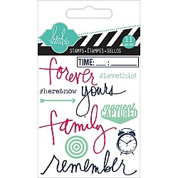 Heidi Swapp Clear Mini Stamps - Remember