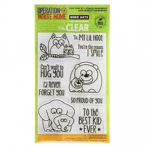 Hero Arts Lil Hoot Clear Stamps