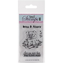 Hot Off The Press Acrylic Stamp -  Small Hugs and Kisses