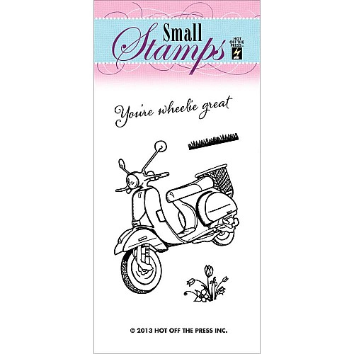 Hot Off The Press Acrylic Stamp -  Scooter
