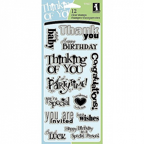Inkadinkado Clear Stamps- All Occasions (12 Stamps)