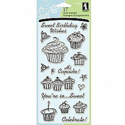 Inkadinkado Clear Stamp - Birthday Cupcake