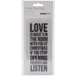 KaiserCraft Texture Clear Stamps - Christmas Love