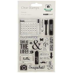 KaiserCraft Captured Moments Clear Stamps - Calendar