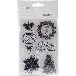 "KaiserCraft Clear Stamps 6""X4"" - Christmas Wishes"