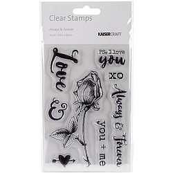 KaiserCraft Clear Stamps - Always and Forever