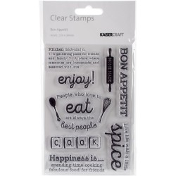 KaiserCraft Clear Stamps - Bon Appetit