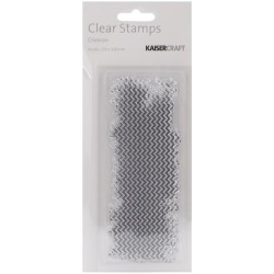 KaiserCraft Texture Clear Stamps - Chevron