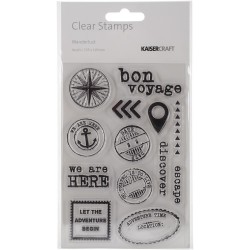 KaiserCraft Clear Stamps - Wanderlust
