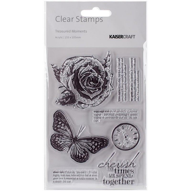 Buy Kaisercraft Clear Stamps Treasured Moments Online In
