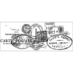 Postmark clear Stamp by KaiserCraft