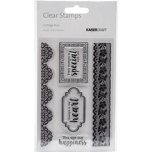 "KaiserCraft Cottage Rose Clear Stamp 6""X4"""