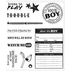 Recollections Clear Stamps -  Label Me Tough (11 Stamps)