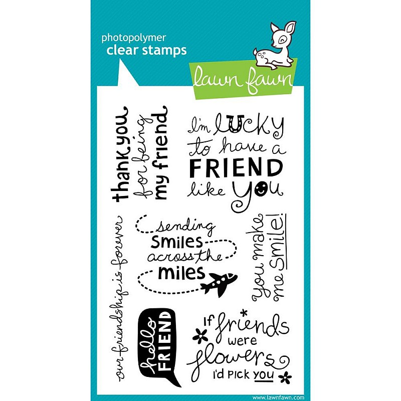 Buy Lawn Fawn Clear Stamp Hello Friend Online In India