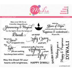 Mudra Craft Stamps - Diwali Sentiment