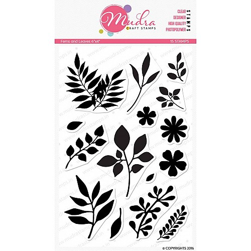 Mudra Craft Stamps - Ferns and Leaves