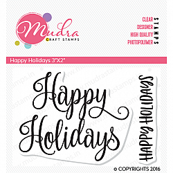 Mudra Craft Stamps - Happy Holidays
