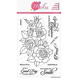 Mudra Craft Stamps - Fresh Cut Roses