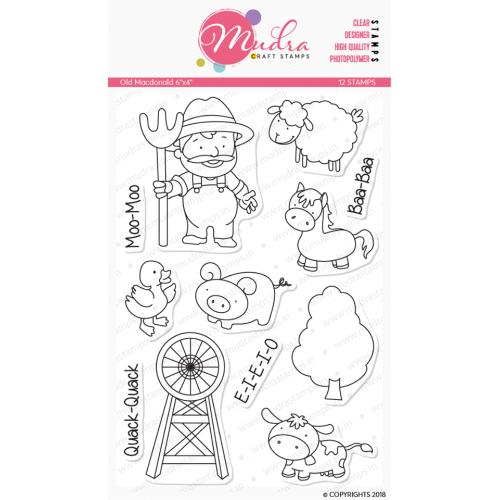 Mudra Craft Stamps - Old Macdonald