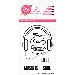 Mudra Craft Stamps - Music is life