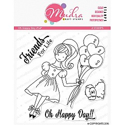Mudra Craft Stamps - Oh Happy Day