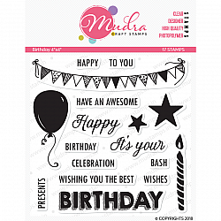 Mudra Craft Stamps - Birthday