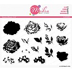 Mudra Craft Stamps - Botanical Blooms