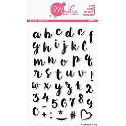 Mudra Craft Stamps - Brushed Alphas
