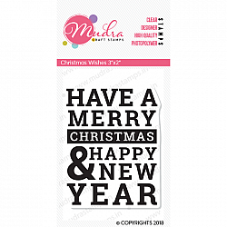 Mudra Craft Stamps - Christmas wishes