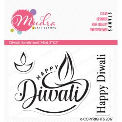 Mudra Craft Stamps - Diwali Mini Sentiment
