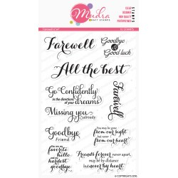 Mudra Craft Stamps - Farewell