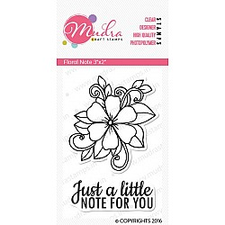 Mudra Craft Stamps - Floral Note